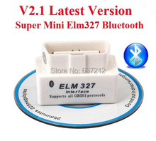 OBD2 scanner Mini ELM 327 V 2.1 car diagnostic scan tool elm327 bluetooth For Android Torque(China)