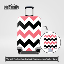 Dispalang brand designer travle luggage protector covers for trunk case 3D striped print dust rain cover thick elastic perfectly