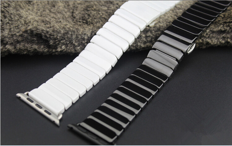 2016 High Quality Ceramic Watchband Original Link Bracelet Strap + Connector Adapter For Apple Watch Iwatch 38mm 42mm<br>