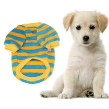Fashion Smart Durable 1PC Coral Fleece Pet Dog Warm Clothes Doggy Apparel Stripe T Shirt Dog Clothes Roupa Cachorro Manteau Chie