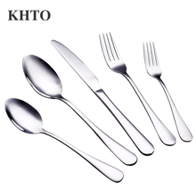 KHTO 20 Piece Stainless Steel Silverware Tableware Service for 4 People(China)