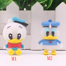 Free shipping Cartoon Donald Duck USB Flash Drive 32gb 16gb 8gb 4gb Pendrive 64gb pen drive Memory stick U Disk flash card