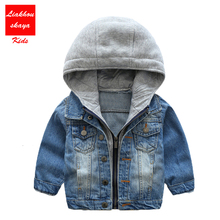 2017 Hot Sale Baby Boys Denim Jackets&Coat Classic Zipper Hooded Outerwear Spring Autumn Children Clothing For Spring Autumn(China)
