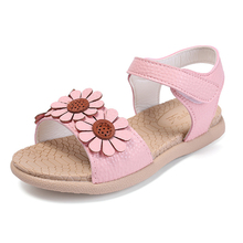 Buy COZULMA Kids Flower Ankle Strap Peep Toe Sandals Girls Summer Princess Beach Shoes Children Gladiator Sandals Size 26-36 for $11.88 in AliExpress store