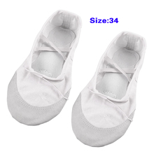 5pcs( White Split Sole Drawstring Top Ballet Dancing Flats Shoes EU Size 34 for Lady(China)
