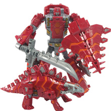 New Dinosaur 5 in 1 Toys Anime Plastic Deformation Robot Action Figure Dragon Classic Toy Model Gifts Brinquedos For Boy Kids(China)