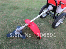 2 stroke gasoline petrol wheel brush grass cutter trimmer handle mower 1.6kw hand push cleaner wheeled string trimmer
