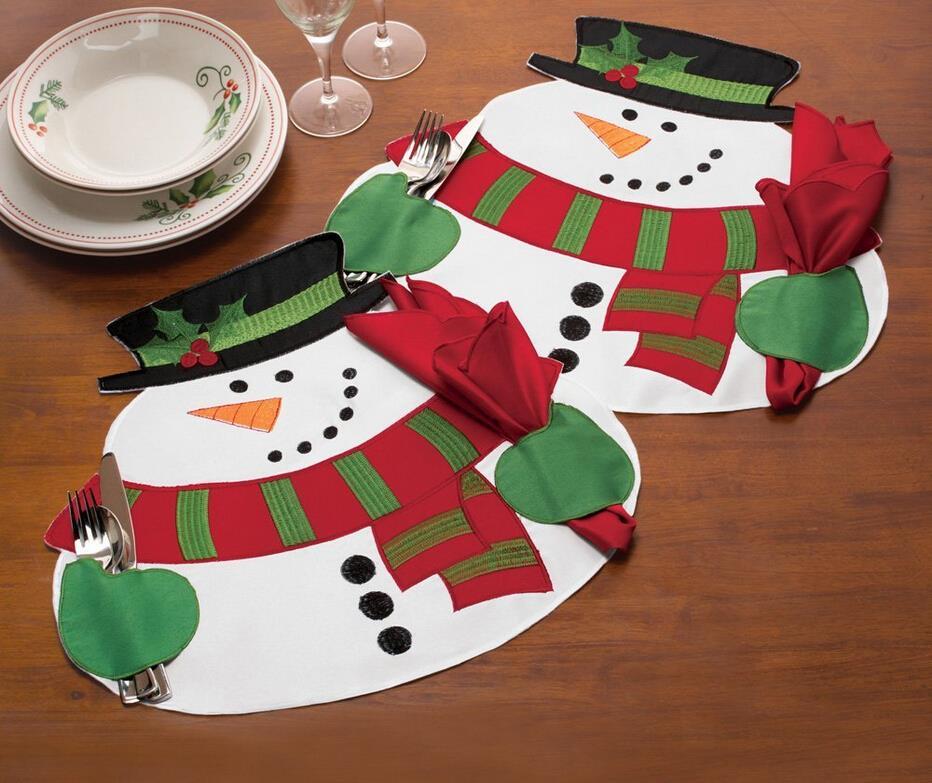 feliz navidad mueco de nieve decoracin de mesa manteles estera servilleta de mesa decoracin de