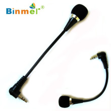 Best Price New Mini 3.5mm Jack Flexible Microphone Mic For PC Laptop Notebook Skype Yahoo  high quality DEC13