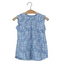 Beautiful Girls Summer Kids Baby Girl Floral Sleeveless Princess Dress Vest Shirt Clothes Costumes D30(China)