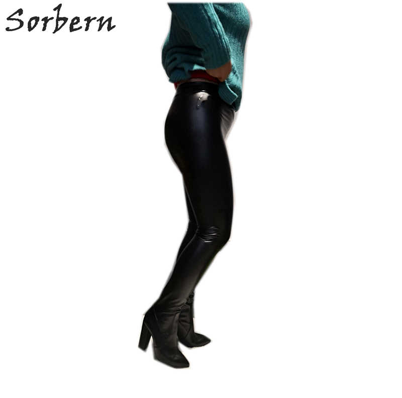 d85abbcd76bc Sorbern Black Stretched Pants Thigh high Boots Women Pointed Sexy Block Heel  Elastic Sock Waist Boot