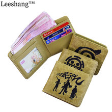 Leeshang Women Wallets PU Leather Small Wallet Men Cute One Piece Naruto Gintama Captain America Totoro Anime Wallet Women Purse