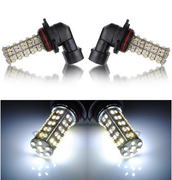 2x HB4 9006 68 SMD 3528 1210 LED Pure White Car Auto Headlight Head Fog Day Driving Light Bulb Lamp Wholesale Free Shipping<br><br>Aliexpress