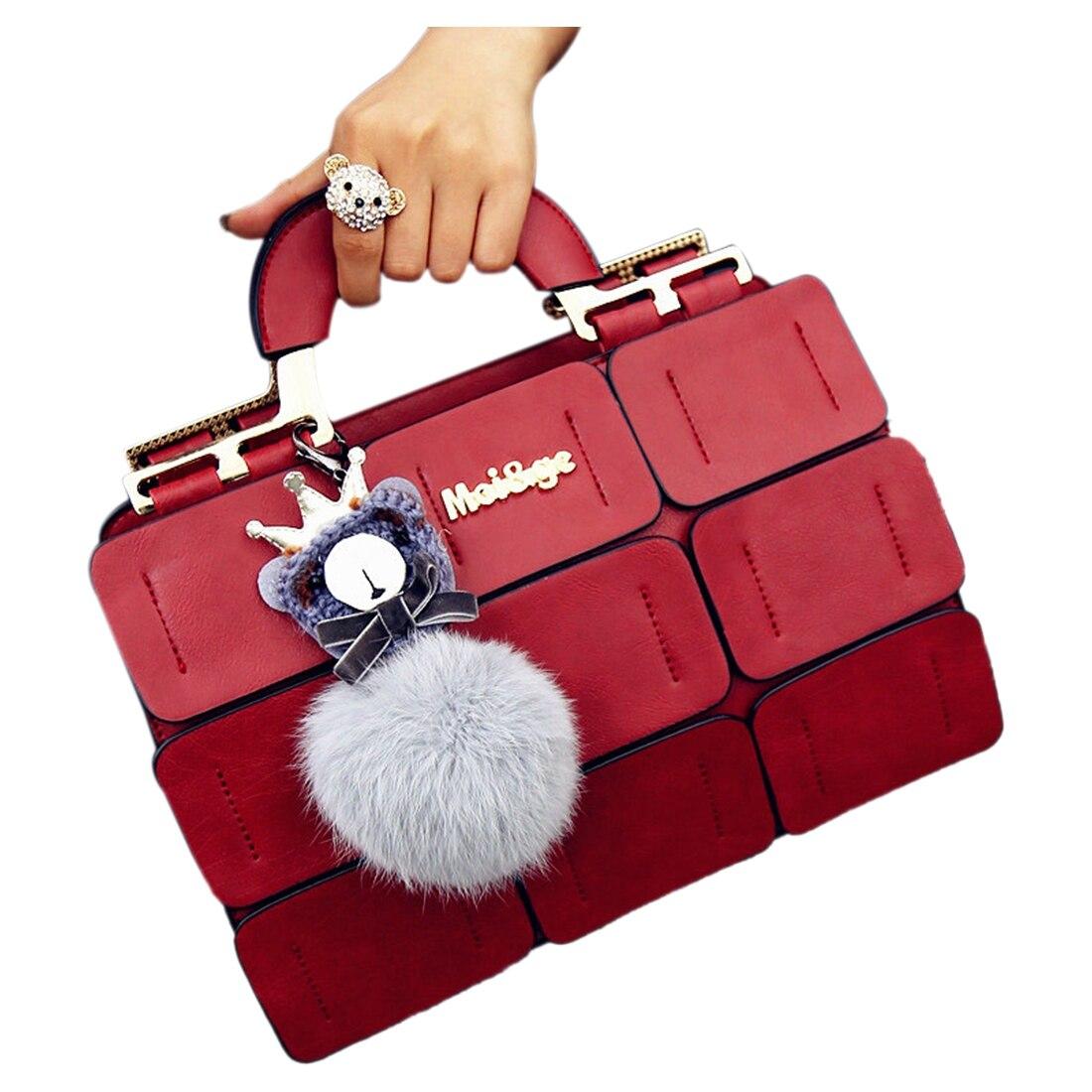 Women Famous Brands Suture Boston Bag Inclined Shoulder Ladies Handbag Women PU leather handbag Woman Bags<br><br>Aliexpress