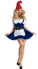 Sexy Women Beer Girl Costumes Christmas Holliday clothes blue DS dress Night Fairy costume Adult Halloween Costume For Carnival(China)