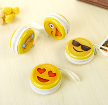 Popular HOT 6Models Emojis - 7CM Approx. Cute Storage Coin Purse Keys Wallet Storage BOX , Earphone Holder Case BOX