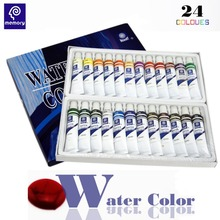 24color Memory Watercolor Paints Set Professional Water Color Paint Artist Fabric Set Tube Gouache Drawing Gouache Paint(China)