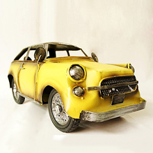 Tinplate Vintage Convertible Beetle Car Collection Ironwork Showcase Craftwork Handmade Ancient Car Model(China)