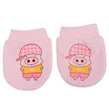Cotton Mittens Newborn Infant Baby Glove Cute Cartoon Anti Scratching Gloves For 0-6 Month Babies Girl Boy Mittens Pig AY674325