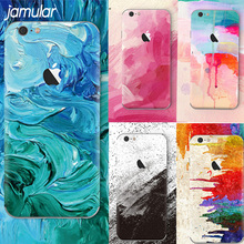 JAMULAR Graffiti Aquarelle Painting Personality Phone Cover for iphone 7 8 Plus 5 5s SE 6 6s Plus Case Soft Silicone Coque(China)