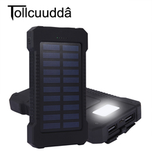 Tollcuudda Solar Charger Portable 10000mAh Power Bank Outdoors Emergency External Battery Mobile Phone Flashlight - Shenzhen Zerospace Technology Ltd. store