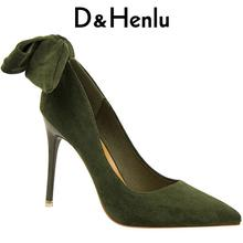 Buy D&Henlu Office Shoes Womens Sexy Shoes High Heels Party Shoe Pumps Woman Pumps Stiletto Butterfly-knot Green Shoe stiletto for $25.74 in AliExpress store