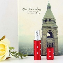 Top Quality!!! Easy Used red color Travel Perfume Atomizer Refillable Spray Empty Bottle