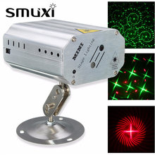 Smuxi Mini LED Laser Stage Light Projector Lamp with Remote Control For DJ Party Clubs Stage Lighting Effect AC100-240V(China)