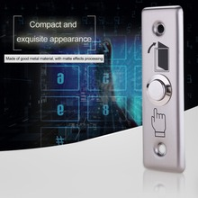 K13 Durable Metal Exit Switch Button Home Office Door Exit Push Release Button For Access Control With LED Light