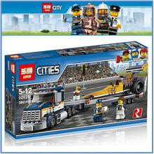 LEPIN 02025 Compatible City The High Speed Racer Transporter 60151 Building Blocks Policeman Toys For Children