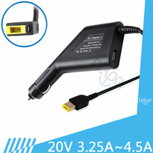 Laptop Adapter Car Laptop Charger 20V 4.5A 90w for Lenovo ThinkPad X240S E431 E531 G500 G505 T440 E431 E360 S3 Power Adapter(China)