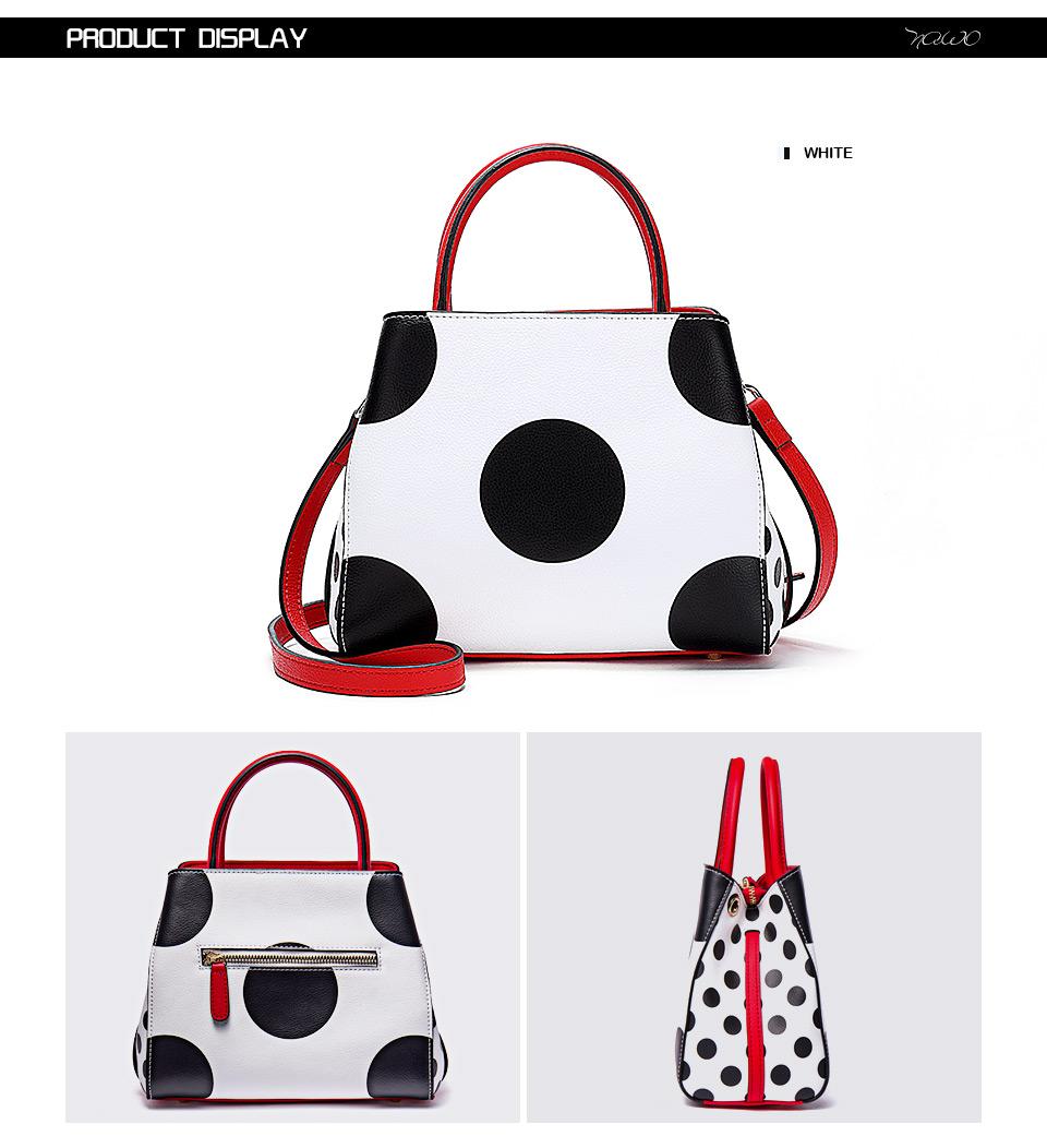 NAWO Famous Brands Women Leather Handbags Designer Women Bag Dot High Quality Shoulder Messenger Bags Luxury Hand Bags Female 4