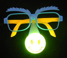 LED clown party wear glasses, kids/adult masquerade party mask funny light up toy Light-Up Toys(China)