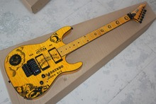 2016 new + factory + yellow ESP ouija KH electric guitar ESP kirk hammett oujia moon electric guitar free Shipping ESP guitar(China)