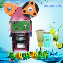 2017 Free ship quality good automatic milk tea sealing machine 9/9.5cm paper plastic cup auto sealing machine cup sealer(China)
