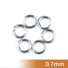 Non-allergical Free Nickel/Lead 0.7/0.8/1.0/1.2mm*3--12mm Stainless Steel Metal Fashion Jewelry Necklace Open Jump Split Rings(China)