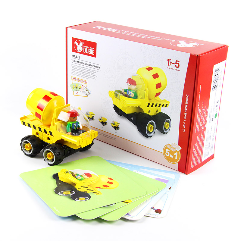 38 PCS Eductional 5 in 1 Building Blocks Sets Engineering Car children Kids Toys Christmas Gifts compatible with legoe<br>