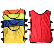 5PCS/LOT 5 Colors Breathable Quickly Dry Soccer Jersey Football/Basketball Training Vest Tops Children Kids Adult Sports Clothes