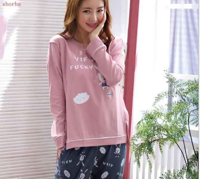 New 2pcs  Set Fashion Maternity Clothes Maternity Sleepwear Breastfeeding Sleepwear  Nursing Pajamas for Pregnant Women dcacfc998