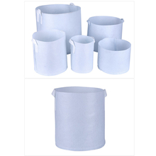 hot 7Sizes Round white Fabric Pots Plant Pouch Root Container Grow Bag Aeration Container