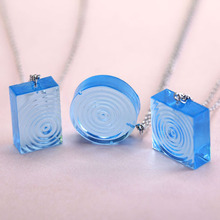 Fashion Resin Jewelry Pendant Handmake Crafts Making Geometry Ocean Series Water Ripples Unique Design Resin Necklace Women/ Men(China)