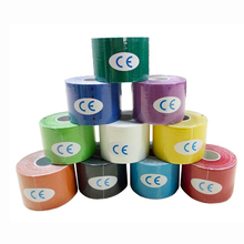 8 Color Kinesio Tape Muscle Bandage 5cm x 5M Sports Kinesiology Tape Roll Cotton Elastic Adhesive Strain Injury Muscle Sticker