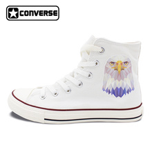 New Canvas Sneakers Converse Bald Eagle High Top White All Star Shoes Men Women Unique Christmas Gifts