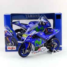 Free Shipping/Maisto Toy/Diecast Motorcycle Model/1:10 Scale/2016 YAMAHA YZR-M1 NO.46 Racing Team/Educational Collection/Gift
