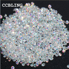 CCBLING New 1440pcs/bag 1.3mm Many colors Zircon Rhinestones Micro Rhinestones Mini Nail Art Rhinestones Nail Decorations(China)