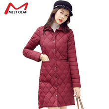 2017 Winter Coats Women Winter Autumn Jackets New Female Single Buttons Thin Cotton Padded Parkas jaqueta feminina inverno Y1733(China)