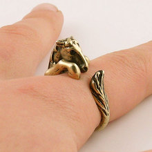 Hot Sale 10pcs Bronco Horse Animal Wrap Ring Bronze Jewelry Rings Comfortable Lucky Animal Ring For Men Women Gift