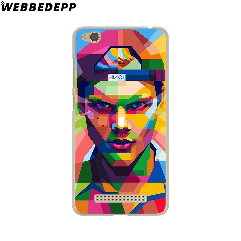 WEBBEDEPP Avicii Hard Cover Case for Redmi 4 4A 4X 3S 3 Pro Note 4 4X 3 2 for Xiaomi Mi 5 5S Plus 6