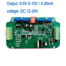 0-5V 0-10V 4-20MA  Load Cell sensor Amplifier Weighing Transmitter voltage current converter Working voltage: DC 12-24V