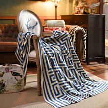 2017 New Geometric Pattern Blanket Knitting Cotton Blanket Throws on Sofa Travel Knitted Plaids Adults Free shipping